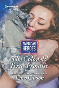 The Colonels' Texas Promise by Caro Carson @TheCaroCarson #RLFblog #romance