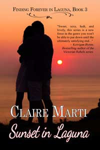 Sunset in Laguna by Claire Marti @clairepmarti #RLFblog #Contemporary Romance