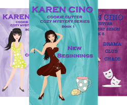 Meet Karen Cino @karencino Author of Cookie Cutter Cozy Mystery Series #RLFblog #Cozy Mystery Romance