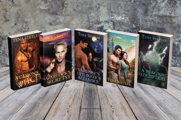 Read the series: A Demons' Witch by Tena Stetler @tenastetler #RLFblog #ParanormalRomance #Mystery